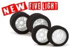 NEW FIVE Light Satz 32 Front /35 Rear RC MODEL TIRES (#MX-8A32/35NFL )